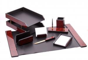 Business Set multifunctional pentru birou Dark Burgundy cu 8 accesorii0