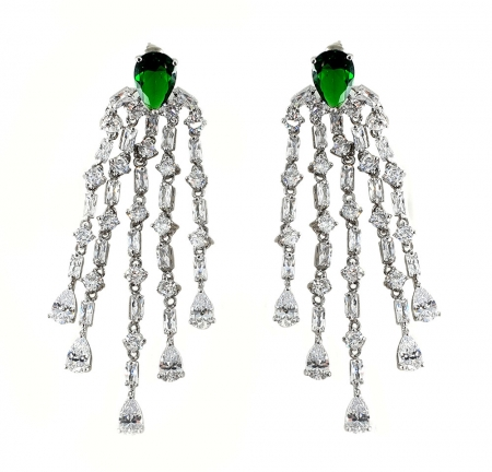 Cercei Borealy Chandelier Green Glamour
