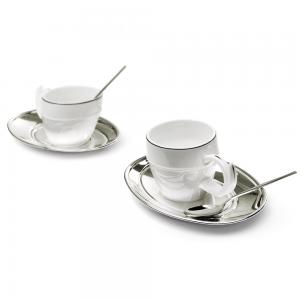 Silver Coffee Set for Two Chinelli - made in Italy1