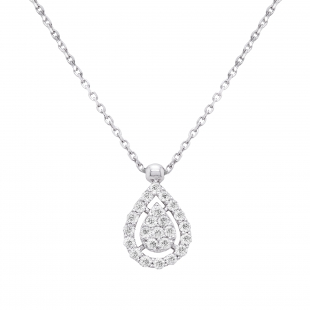 Colier aur alb 18k cu diamante naturale0