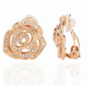 Cercei Rosa Borealy Yellow Gold CLIPS1
