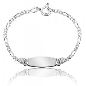 Bratara pentru Copii personalizabila Borealy Argint 925 Baby Figaro