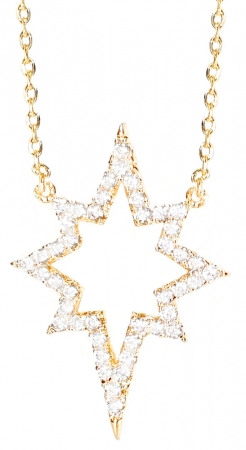 Colier Gold Sparkle Star0