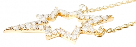 Colier Gold Sparkle Star1