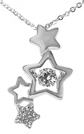 Colier Dancing Stone Fine Star by Borealy