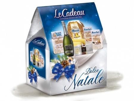 Cos de Craciun Dolce Natale, Pandoro - 6 piese, made in Italy [1]