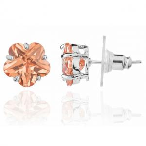 Cercei Borealy Sapphire Studs Flower Cut Amber1