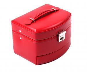 Cutie Bijuterii Intense Red piele naturala By Friedrich – Made in Germany - personalizabil1