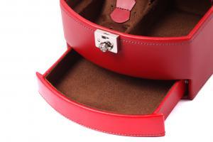 Cutie Bijuterii Intense Red piele naturala By Friedrich – Made in Germany - personalizabil3