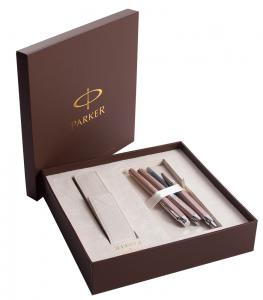 Set Cadou Parker Writing Set for Women si Note Pad Burgundy Hugo Boss2