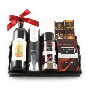 Chianti Luxury Black Leather Gift Tray0