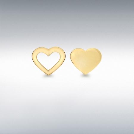 Cercei Aur 9 Kt Love1