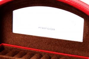 Cutie Bijuterii Intense Red piele naturala By Friedrich – Made in Germany - personalizabil5