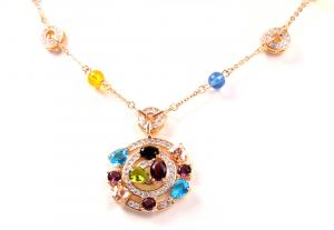 Colier Borealy Circle Colours Luxury0