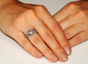 Set Inel şi Verighetă Borealy Argint 925 Luxury Princess Marimea 7,52