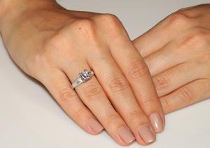Inel Borealy Argint 925 Simulated Diamond Zirconiu Princess Marimea 61