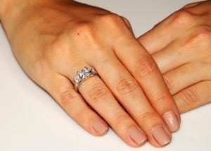Inel Borealy Argint 925 Simulated Diamond Princess Marimea 71