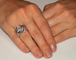 Inel Borealy Argint 925 Simulated Diamonds 4 carate Marquise Pear Marimea 71