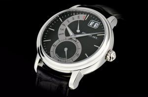 Retrograde Watch Black&Silver Jos von Arx1