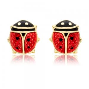 Cercei pentru Copii Borealy Aur Galben 9 K Ladybug
