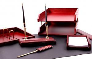 Set pentru birou Wood Art cu 6 accesorii7