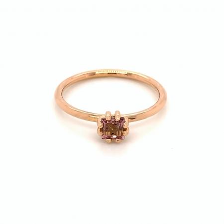 Inel Alecia aur rose 14K cu turmalina