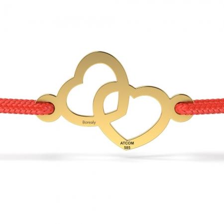 Bratara Heart of Sun din Aur galben 14 kt  personalizabila