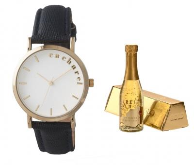 Cadou Gold Lady Ceas Cacharel - Sampanie Aur 0.75 l - personalizabil