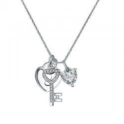 Colier Borealy Argint 925 Key Love Lock