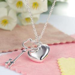 Colier Borealy Argint 925 Kitty Heart2