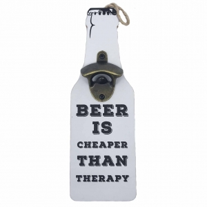 Desfacator sticle ,,BEER IS CHEAPER THAN THERAPY