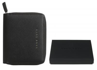 Premium Business Gift Set Mapa Conferinta Hugo Boss A6 si Butoni Silver Stamp4