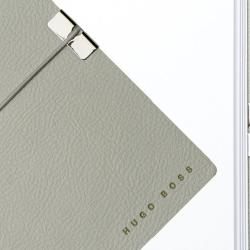 Set CEAS ELECTION PREMIUM SLIM LINE – SILVER S si Note Pad Grey HUGO BOSS2