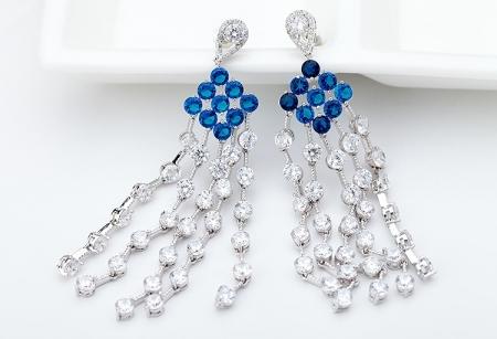 Cercei Borealy Chandelier Fancy Blue Crystal [2]