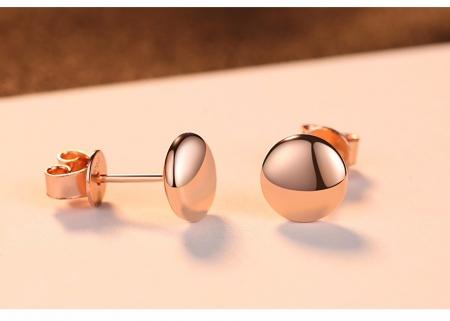 Cercei Simple Pink Dot - Argint 925 [3]