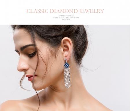 Cercei Borealy Chandelier Fancy Blue Crystal [3]