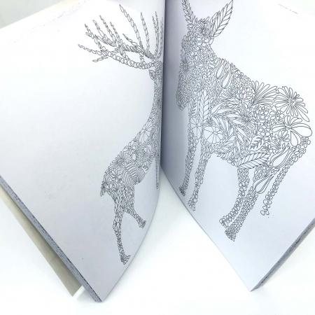 Carte de colorat antistres pentru adulti, Animal Kingdom, by Borealy [4]