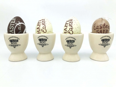 Suport Oua din Ceramica, cu Oua Decorative2