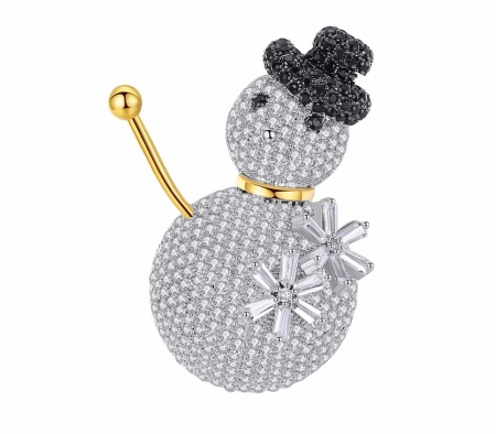 Brosa Snowman by Borealy- gold plated0