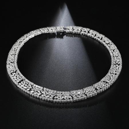 Set Colier si Cercei Luxury Fashion Bride, by Borealy [1]