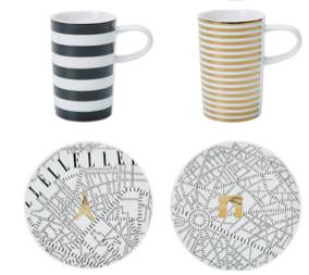 Set 2 cani Espresso Show Porcelana Plain de Paris by Elle