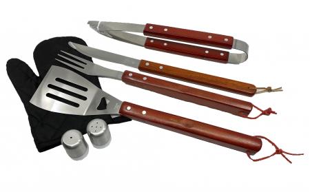 Set 7 ustensile și șorț pentru grătar Barbeque1
