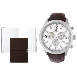 Set CEAS ELECTION SPORT MASTER – WHITE & BROWN LEATHER si Note Pad Burgundy HUGO BOSS