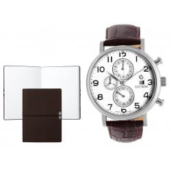 Set CEAS ELECTION CLASSIC TRADITIONAL CHRONO – BROWN si Note Pad Burgundy HUGO BOSS
