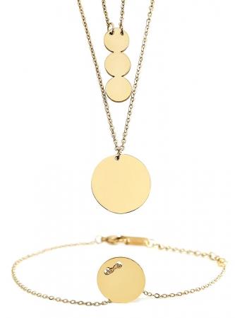 Set Colier si Bratara Delicate Gold by Borealy
