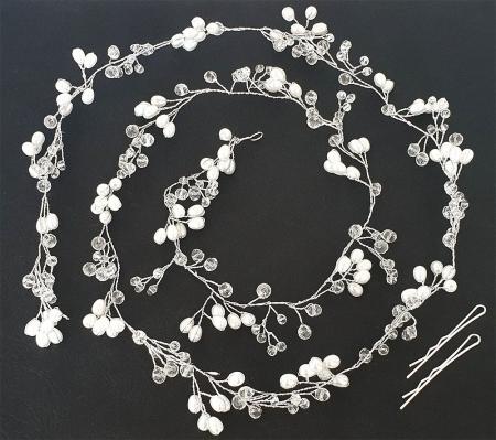 Tiara Modelatoare Crystal Pearl Branch by Borealy1