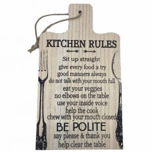 Tablou motivational tocator ,,KITCHEN RULES