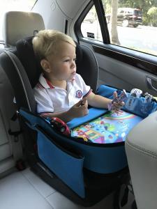 Masuta Calatorie / Tavita de copii pentru masina si carut KIDSMARTER. Perfecta pentru joaca, mancare, desen, cand sunteti pe drum.4