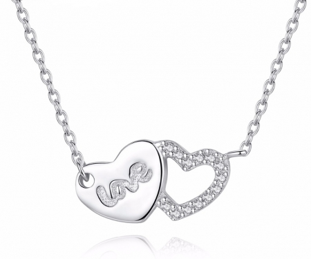 Colier Borealy Argint 925 Double Lovely Hearts [0]
