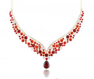 Royal Red Set Statement Colier si Cercei3